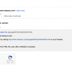 verifying your site on Google search console